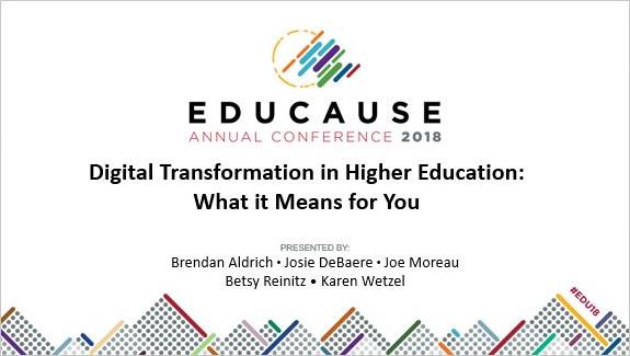 salon educause, stratégie éducation, enseignement supérieur, Edtech