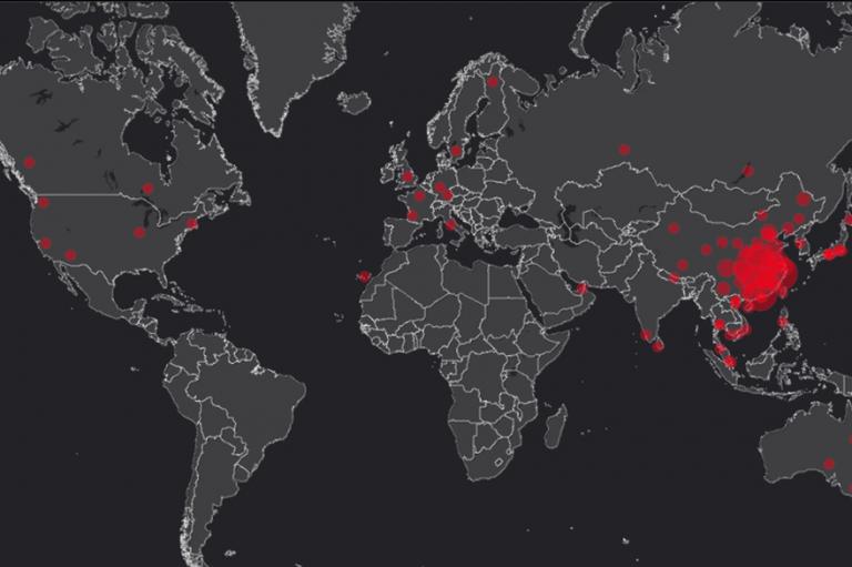 Carte du monde propagation de l'épidémie
